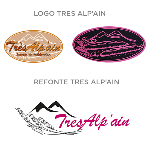 Refonte Logo Très Alp'Ain - Estelle Penhirin